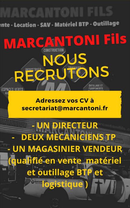 Recrutement 2020, Marcantoni Fils